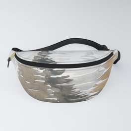 Watercolor Pine Trees 3 Fanny Pack