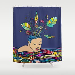 Spring Head Shower Curtain