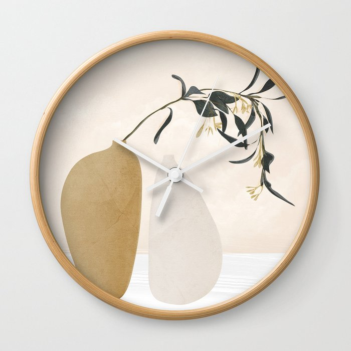 Couple Of Vases Wall Clock