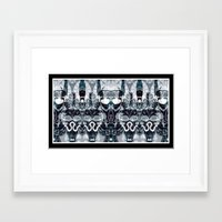 hindu Framed Art Prints featuring HINDU WORLD by Kathead Tarot/David Rivera