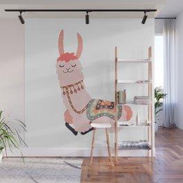 Cute Lama Sticker Wall Mural