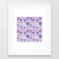 bows Framed Art Prints featuring Bows by Jessica Anecito