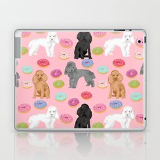 Toy Poodle donuts pet portrait dog breed dog pattern pet friendly dog lovers Laptop & iPad Skin
