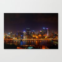 pittsburgh Canvas Prints featuring Pittsburgh by Zachary DiBeradin