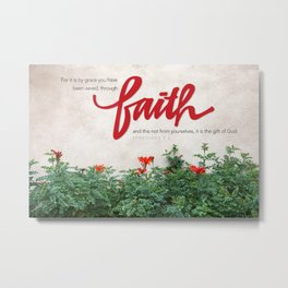 Through faith. Metal Print