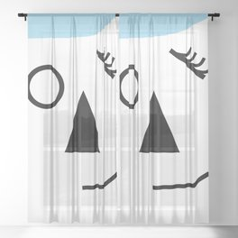 Wink - Abstract Sheer Curtain