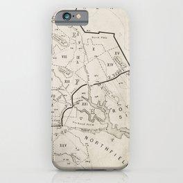 Vintage 1692 Map of Salem MA Village (1866) iPhone Case