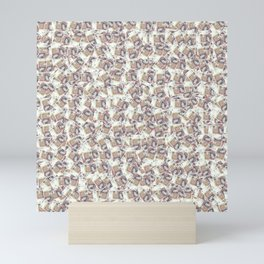 Giant money background 50 pound notes / 3D render of thousands of 50 pound notes Mini Art Print