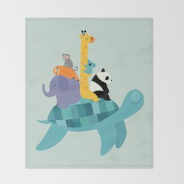 Travel Together Throw Blanket