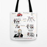 shaun of the dead Tote Bags featuring Shaun of the Dead by Rob O'Connor