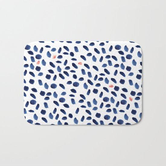 Watercolor brushstrokes Bath Mat