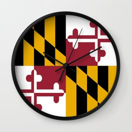 flag of maryland-america,usa,Old Line State,marylander, America in Miniature,Baltimore,Columbia Wall Clock