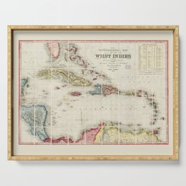 West Indies Map (1853) Serving Tray