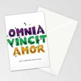 Omnia Vincit Amor Latin for Love Conquers Everything Stationery Cards