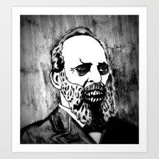 20. Zombie James A. Garfield  Art Print