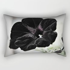 Black Velvet Rectangular Pillow