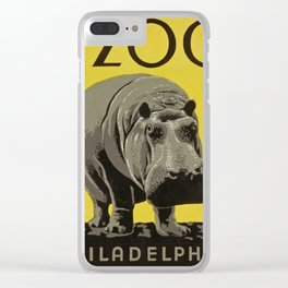 The Philadelphia Zoo vintage poster art Clear iPhone Case
