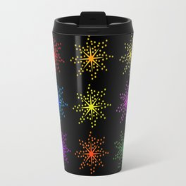 Colorful Comic Explosions Travel Mug
