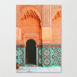 marrakech doorway Canvas Print