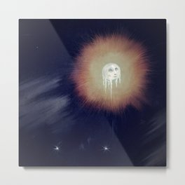 The Fiery Halo of the Frost Moon Metal Print
