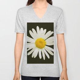 Daisy on a black background - #Society6 #buyart Unisex V-Neck