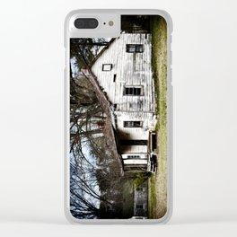 A sad shack. Clear iPhone Case
