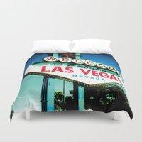 las vegas Duvet Covers featuring Las Vegas by very giorgious
