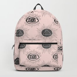 Eye of wisdom pattern - Pink & Black - Mix & Match with Simplicity of Life Backpack