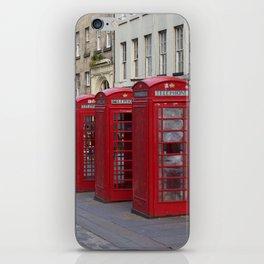 Telephone Booths Royal Mile Edinburgh iPhone Skin