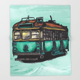 Melbourne Tram Throw Blanket