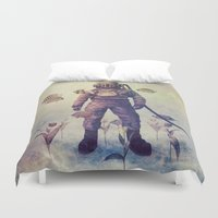 garden Duvet Covers featuring Deep Sea Garden - colour option by Terry Fan