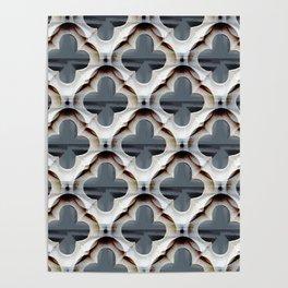 Gothic Trellis Pattern ( large motifs) Poster