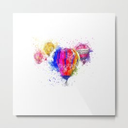 Air Balloons Bright Color Metal Print