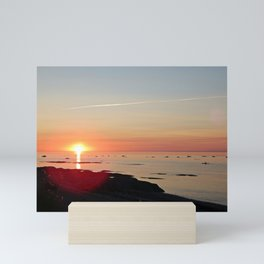 Kayak and the Sunset Mini Art Print