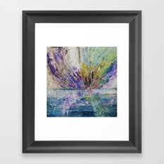 Live life to the fullest - abstract painting Framed Art Print