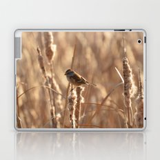 A Sparrow on Catails Laptop & iPad Skin