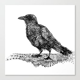 Crow About it Canvas Print