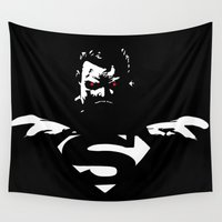 superman Wall Tapestries featuring Superman by Denzalman