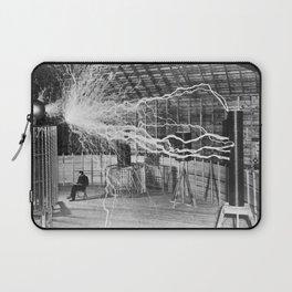 Nikola Tesla Vintage Photograph Double Exposure Electricity, 1889 Laptop Sleeve