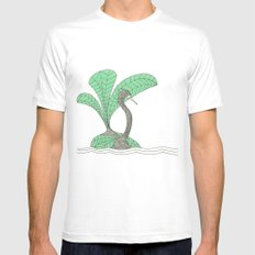vert pale pc 920 MEDIUM Mens Fitted Tee White