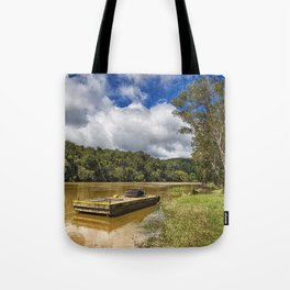 Pontoon on the Barron River Tote Bag