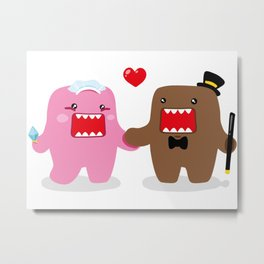 A Very Domo Wedding Metal Print