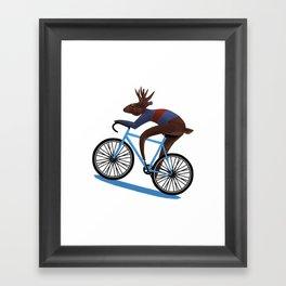 'Tis the season to be cycling Framed Art Print