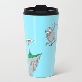 Internet literally (cat edition) Travel Mug