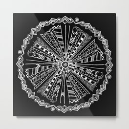 Native Wisdom Mandala Metal Print
