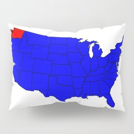 State of Washington Location Pillow Sham