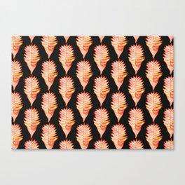 Heliconia black Canvas Print