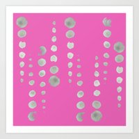 dots in line {HoT PiNk} Art Print