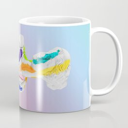 A Grecian Bust With Color Tests (Cotton Candy Gradient Edition) Coffee Mug