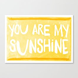 My Sunshine Love Canvas Print